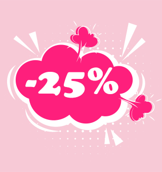 25% off only now